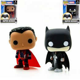 Wholesale 2Styles FUNKO POP Figurines Superman VS Batman Action Figure Toys Collectible Model Dolls For Kids Birthday Gifts quot cm