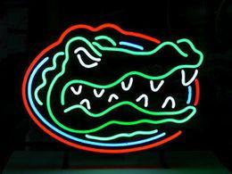 FLORIDA GATORS BEER BAR NEON LIGHT SIGN Real Glass Neon Light Sign Home Beer Bar Pub Recreation Room Game Room Windows Garage Wall Sign