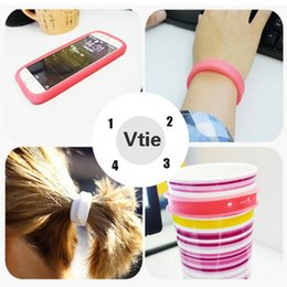 Wholesale Multifunctional silica gel mobile phone cover For Iphone Case Wrist Ring Hair band