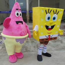 Wholesale Cartoon Mascot Costume from Sponge Bob Anime Character Antimated Doll Garment Charming Walking Dress