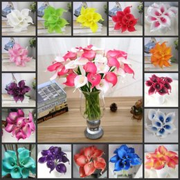 Fake calla lilies wholesale canada best selling fake calla lilies des floral vintage artificial flowers 10 pieces lot mini purple in white calla lily bouquets for bridal wedding bouquet decoration fake flow mightylinksfo