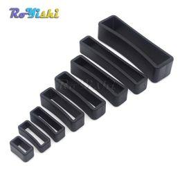 100pcs lot Plastic Black Keeper Belt Loop Square Loop Leather Craft 8 Sizes
