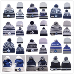 Wholesale Maple Leafs Hockey Beanies Team Hat Winter Caps Popular Beanie Caps Skull Caps Best Quality Toronto Blue Sports Caps