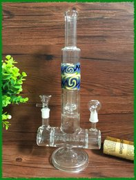 Wholesale Labs Glass pipes Dual Action Double Joint Inline to Circ Perc Straight Tube inch height mm DHgate