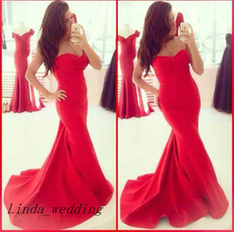 Free Shipping Sassy south Red Evening Dress Latest New Elegant Mermaid Women Long Formal Party Dress