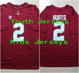 Wholesale Youth Jalen Hurts Kids Alabama Crimson Tide College Football Limited Jerseys New Style Cheap Stitched Jersey