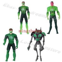 Wholesale DC Animation Cartoon Cool Set Of Super Hero Green Lantern cm cm PVC Figure Loose Pack