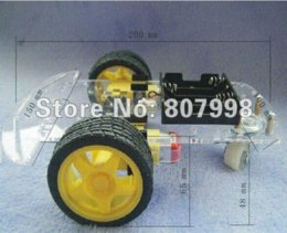 Wholesale Free ship Smart Robot Car Chassis Kits with Speed Encoder Battery Box kit car body kits chassis fan