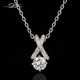 Classic Cross CZ Diamond Necklaces & Pendants Fashion Brand Vintage Jewelry For Women Chains Accessiories Wholesale DFN419