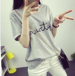 2016 tide models loose short-sleeved summer women casual fashion wild round neck T-shirt (a generation of fat)
