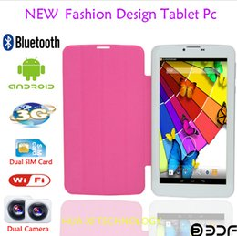 Wholesale 7inch GSM g Phone Call Tablet PC Bluetooth WIFI Webcam GB Sim Card Slot phablet flashlight MTK qual core