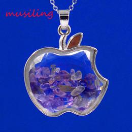 Natural Stone Apple Wish Lucky Bottle Reiki Pendulum Pendant Charms Healing Chakra Amulet Jewelry 10Pcs