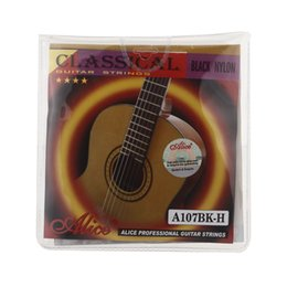 Argentina Alice calientes 6pcs / set guitarra acústica de la herida Clear Nylon secuencias de la guitarra con sonido claro y brillante acoustic nylon guitar for sale Suministro