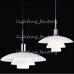 Free shipping PH 3 2 Glass Louis Poulsen Poul Henningsen White pendant light