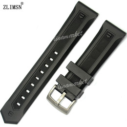Black Silicone Rubber Watch BAND ZLIMSN Brand high quality professional buckle supplier 22mm Men Strap & silver black buckle