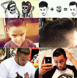 100pcs Suavecito Pomade Strong style restoring Pomade Hair wax big skeleton hair slicked back hair oil wax mud keep hair pomade men D863