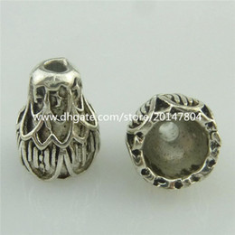 Wholesale 18766 Vintage Silver Totem Melon Lotus mm Spacers Bead Cap Tassel End Cap