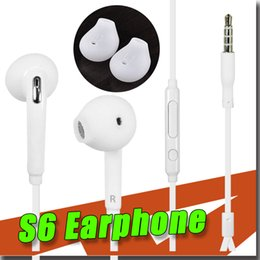 Wholesale New Samsung mm PREMIUM SOUND HIGH QUALITY Stereo Earbud Headphones for Galaxy S6 S6 Edge with retail Package