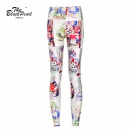 Wholesale 2016 Fashion New Style Fashion Women Sexy Leggings Alice in Wonderland D Digital Print Pants Slim Fitness Jeggings