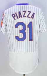 Wholesale New York Mets white stripes set head retro elite PIAZZA Baseball Jerseys DEGROM Baseball Jersey CESPEDES SYNDERGAARD ball Wear
