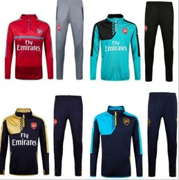 Wholesale 2016 winter Arsenal soccer tracksuit high quanlity football training suit brand shirt Men Sweatshirt Long sleeve T shirt