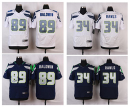 Wholesale New product football jerseys Thomas Rawls BALDWIN white blue stitched can football jerseys embroidery Mix Order