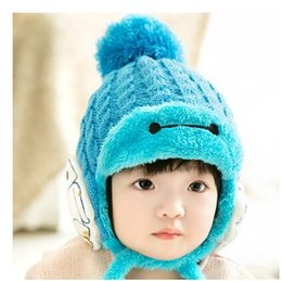 Wholesale Baby warm winter hat plus velvet hat baby hat and children s hooded cap months