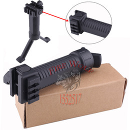 Wholesale 2016 NEW Tactical RIS Front Grip Bipod Pod Picattinny Weaver Rifle w SIDE RAIL for Hunting