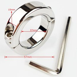 New Scrotum Bondage Gear Ball Stretcher Male Penis Cock Ring Stainless Steel Metal Chastity Ring Adultsex Toy