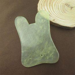 Wholesale Jade Stone Guasha Massage Tool Health Jade Gua Sha Massage Board Traditional Chinese Acupoints Theory
