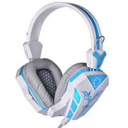 Bruit de microphone en Ligne-2016 Marque Cosonic Gaming Headphone USB + 3.5mm Gaming Headset Écouteur avec microphone Enroulement de bruit LED Light pour PC Gamer