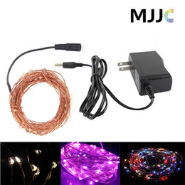 10M 100LEDs Copper Wire Warm White LED String Fairy Light With 12V 1A 12W Power Adapter For Christmas Wedding Party Decorative