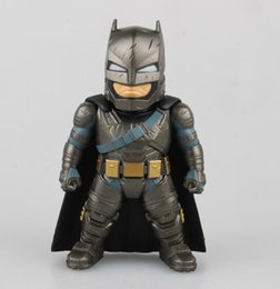 Wholesale hot sale Batman V Superman Dawn of Justice painted so cute Armored Batman Brinquedos PVC children anime cartoon toy action model toy T5299