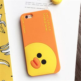Yellow Duck Cell Phone Cases Cute Cartoon Fashion Phone Covers for iphone 7 7plus 6s 5S 49
