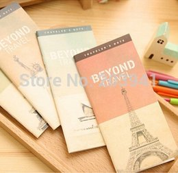 Wholesale New Vintage Architecture Series Travel Diary book Plan Notepad