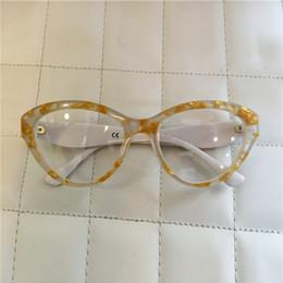 Wholesale Fashion brand designer Glasses Eyewear Frame Women Retro Plastic Glasses Frame cat eye Frame Students Decorate Glasses DG4199