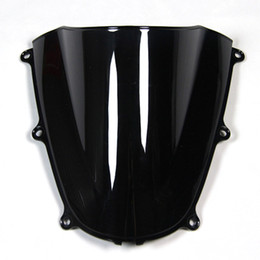 Wholesale ABS Double Bubble Tinted Black Injection Windshield For Honda CBR600RR F5 Year Motorcycles CBR600 RR Windscreen