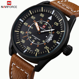 Wholesale Leather Sports Watch Brand NAVIFORCE Men Watches Men s Quartz Hour Date Clock Male Casual Military Wrist Watch Relogio Masculino