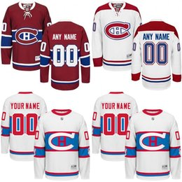 Wholesale Customized Men s Montreal Canadiens Custom Any Name Any Number Ice Hockey Jersey Authentic Jersey Embroidery Logos size S XL