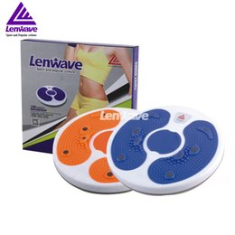 Wholesale Lenwave Sports Brand Twister Plate Color Balance Board Women Fitness Waist Twisting Disc Health Round Plates