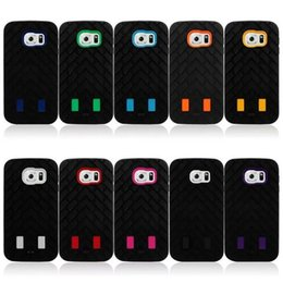 Fashion Tire modeling Case 3 in 1 Silicone PC Rubber shockproof cover case for samsung galaxy s6