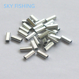 Wholesale pieces Fish crimps aluminum pipe fishing line tube fitted tube wire clip tube fishing tackle fishing sleeve