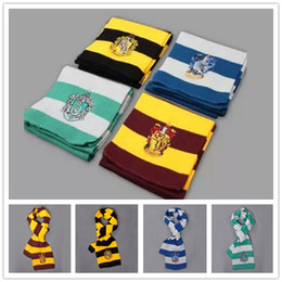New Fashion winter Scarves winter School Unisex Striped Scarf Gryffindor Cosplay Costume Scarves Christmas scarfs Gift B0427