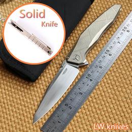 Wholesale LW Original AH APACHE M390 steel blade TC4 Titanium handle ball Bearing folding knife camp hunt outdoor survival pocket knife EDC tool