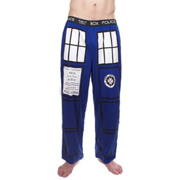 Wholesale-Doctor Who Big TARDIS Lounge Pants Tardis Trousers
