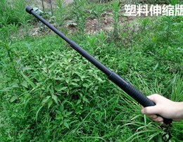 Wholesale Car outdoor self defense weapons whiplash plastic PV three section telescopic guards patrol cool stick self defense equipment