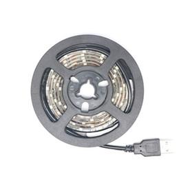 IP65 Waterproof USB Cable LED Strip Light Lamp SMD2835 5V 1M 60leds Christmas Led Strip Light TV Background Lamp Strip