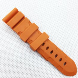 26mm 120 75mm Fashion Orange Silicone Rubber Water proof Band Strap for PAM LUNMINOR RADIOMIR Watch