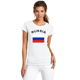 Football Nationa Flag Printed European Cup Football RUSSIA Fans Cheer Summer Women T-Shirt Sports Fitness Gym T Shirts For Women