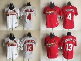 Wholesale 2016 Womens St Louis Cardinals Yadier Molina Matt Carpenter Adam Wainwright Cool Base Baseball Jerseys Free Drop Shipping